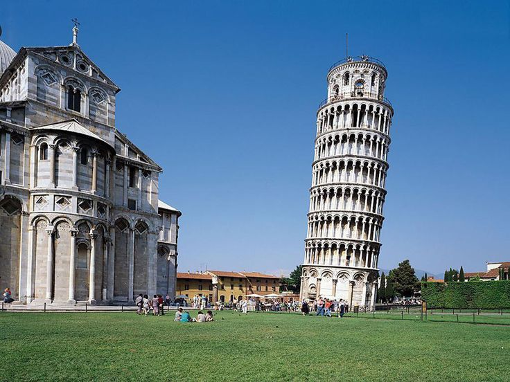 Leaning Tower of Pisa - New construction of the tower began in 1173. Already in the works then architects have understood that the base of the tower lends. So construction has been delayed for many years to solve this big problem. In 2006, after some major reforms, the architects managed to stop inclination of the tower. At the request of the tourists may rise to the top of Italy monument after the climb 300 steps.