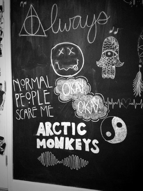 pr0craѕтι-naтιon ☪ I have chalk board paint in my room so I could actually do this!! XD