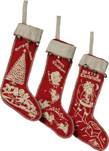vintage felt christmas stocking                                                                                                                                                                                 More