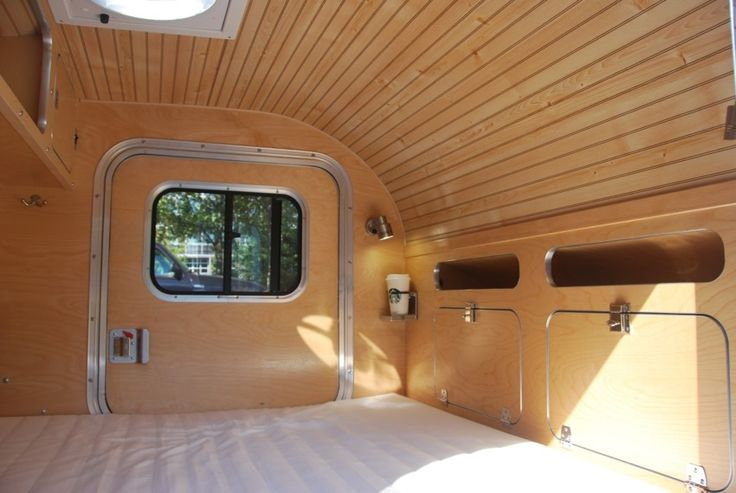 High Camp Trailers' classic teardrop trailer cabin.