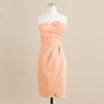 * (via @Shantellsci )Ideas, Dresses Style, J Crew, Colors, Peaches Bridesmaid, Brides Maid Dresses, Jcrew, The Dresses, Cute Bridesmaid Dresses
