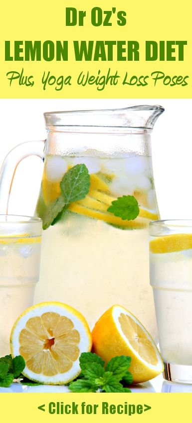 Dr oz s weight loss diet dr oz s lemon water detox diet is a great