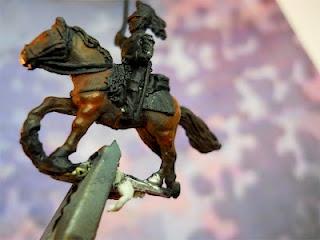 MondinMiniatura: cavalli in 15 mm a olio
