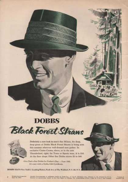 *Dobbs Black Forest Straws Mens Hat (1955) The Tim would luv this hat.Must go back to the habidashery soon!