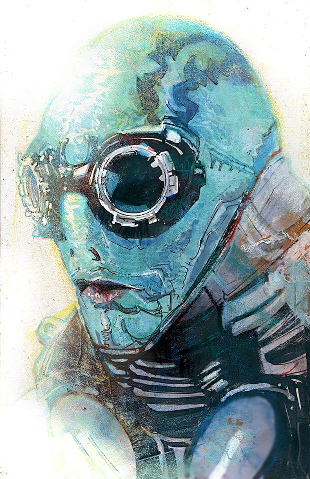 Hellboy B.P.R.D. Hero Initiative - Abe Sapien by Bill Sienkiewicz *