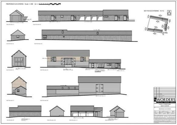 Development opportunity! Converted barns for sale.  Planning Approval has been granted for conversion to a 4 Bed dwelling with a 2 Bed Annexe, Games area, Home Office, Gym & Triple Garaging totalling approx. 5-6,000sq.ft on a plot of approx. 0.4 acres