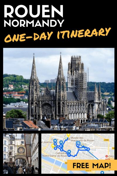 Looking for a day trip from Paris? Rouen offers great architecture and history only 1 hour away from Paris! Visit my blog to learn more about this lovely town in Normandy.