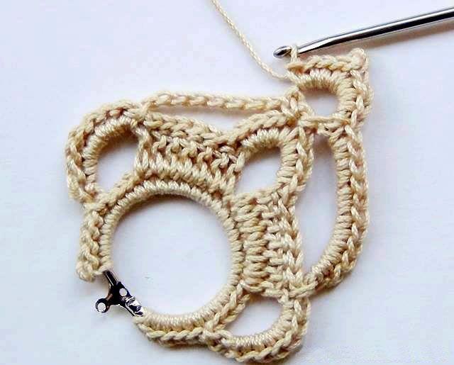 aprende a confeccionar aros tejidos en crochet