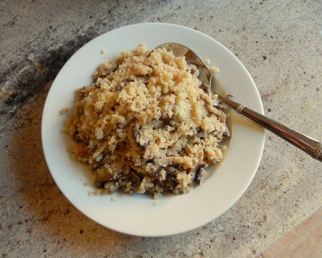 Eggface Dinner Recipes: Cauliflower Mushroom Risotto (No Rice)