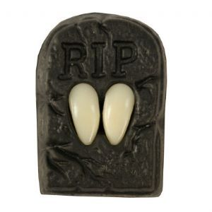 False teeth: Vampire Fangs Caps with Putty £4.50 great for a vampire costume accessory