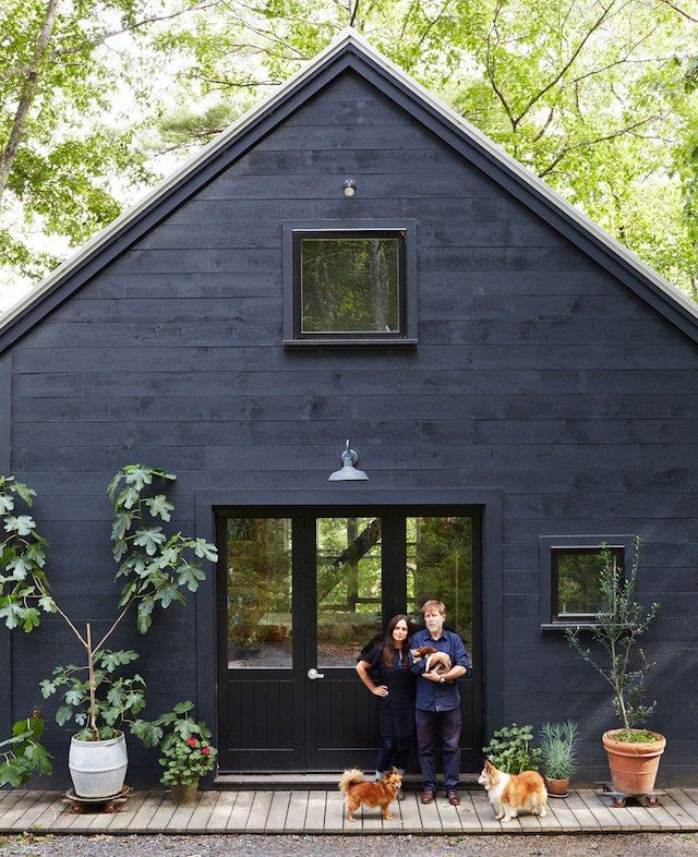  BLACK   exteriors are simple and quiet within their environments
