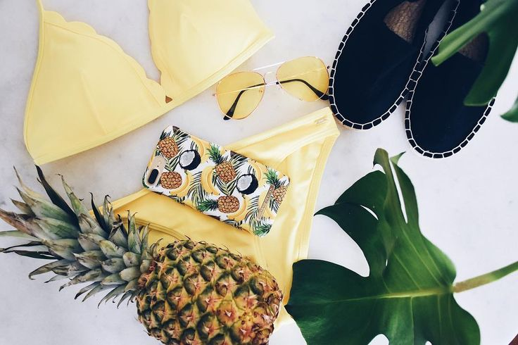Banana Coconut by lovely @bymatiilda - Fashion case phone cases iphone inspiration iDeal of Sweden #Tropcial #pineapple #palms #leaf #pina colada #yellow #fashion #inspo #iphone
