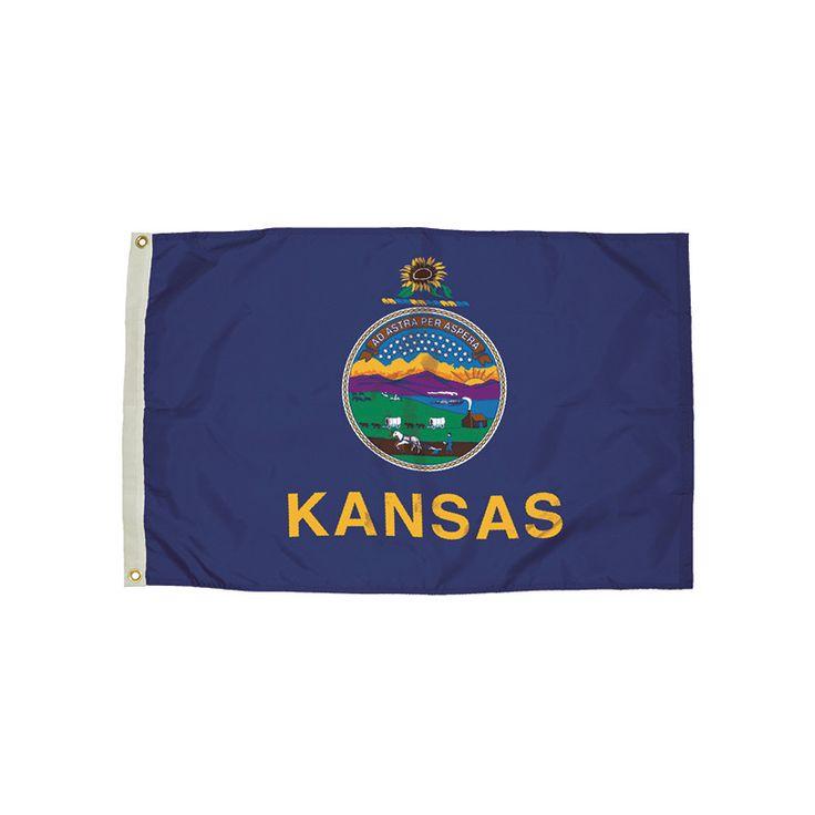 3X5 NYLON KANSAS FLAG HEADING &