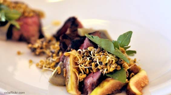 A colorful dish from Blackbird restaurant located in Chicago