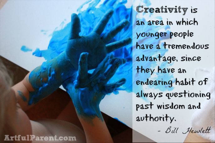 Creativity is an area in which younger people have a tremendous advantage -- Greate QUOTE