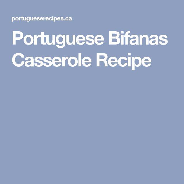 Portuguese Bifanas Casserole Recipe