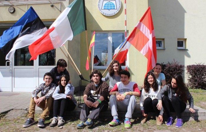 Młodzież i opiekunowie z Hiszpanii