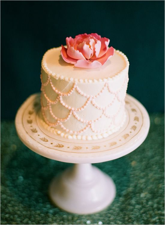 pretty scalloped cake.