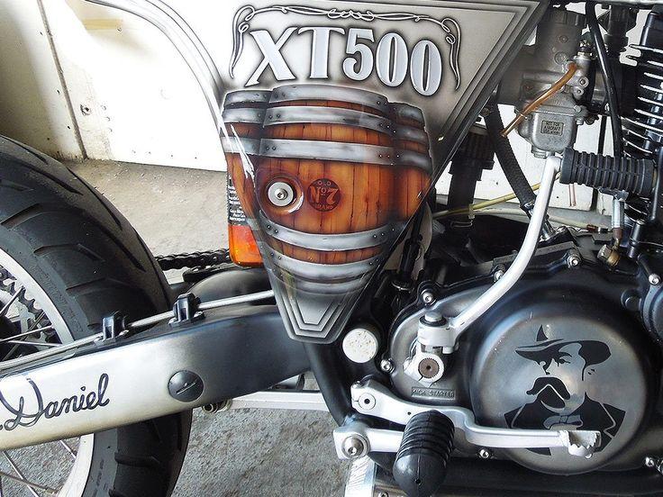 On The Rocks | Yamaha XT 500. Design concept: Jack Daniels painted by PAZ.