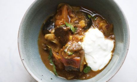 'Chop and change the spices to suit your taste': Nigel Slater's aubergine curry recipe. Photograph: Jonathan Lovekin for the Observer