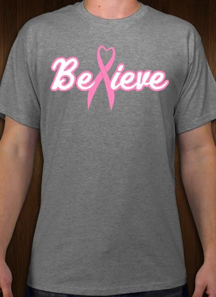 82037e226 Breast Cancer Believe and Support t-shirt design idea and template.  Customize online.