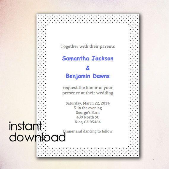 24 best DIY Wedding Invitation Templates - Instant Download images - invitation templates microsoft word