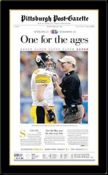 Pittsburgh Steelers Newspaper Print Pittsburgh Post-Gazette Reproduction Super Bowl XL Headline