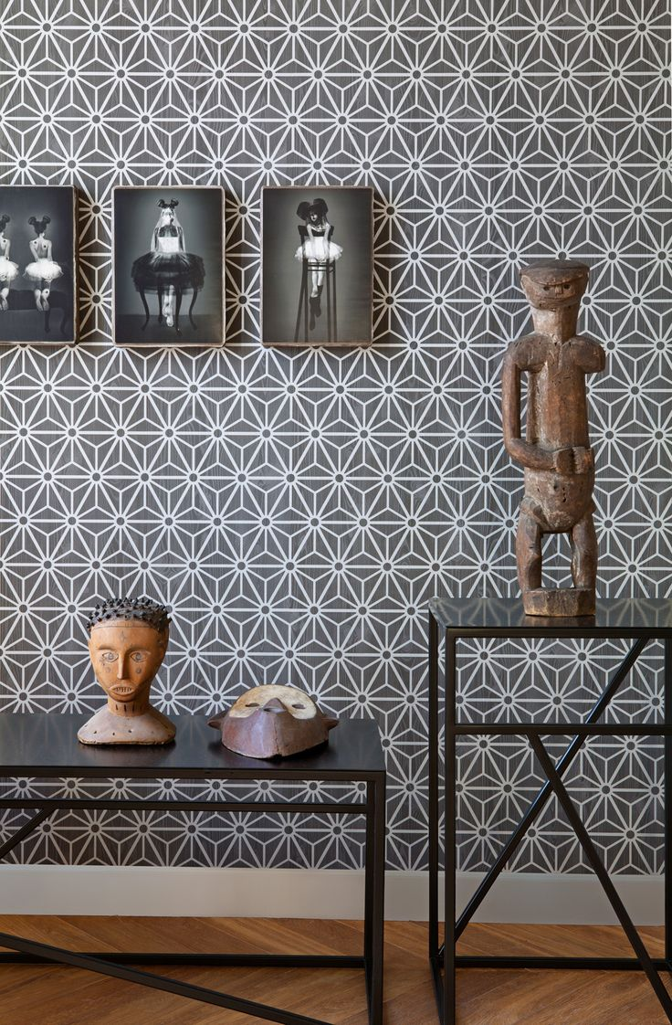 Grey wallpaper/behang Layers by Edward van Vliet - BN Wallcoverings