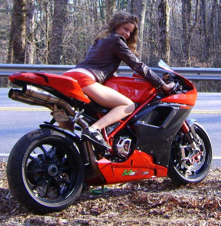 Ducati women bikini