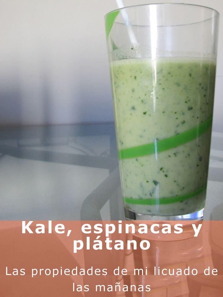 Kale, espinacas y plátano: propiedades y receta de mi licuado de las mañanas