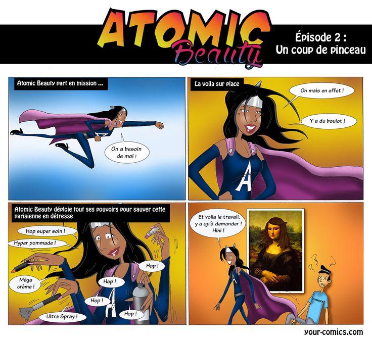 """Épisode #2 ! RDV chaque lundi à 18h sur https://www.facebook.com/labeauteselonuneparisienne… pour suivre les épisodes de Atomic Beauty""""! #COMICS"""