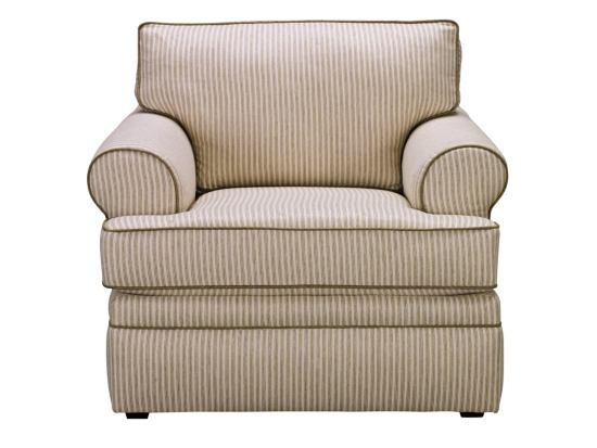 Perfect Kendall Stripe Chair   Value City Furniture
