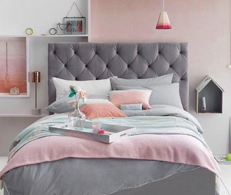 Bela combinação de rosa com cinza.