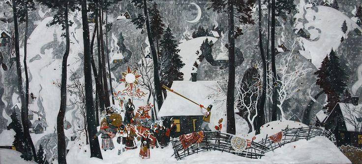 Christmas in Zakarpatye by Oksana Arkhipova