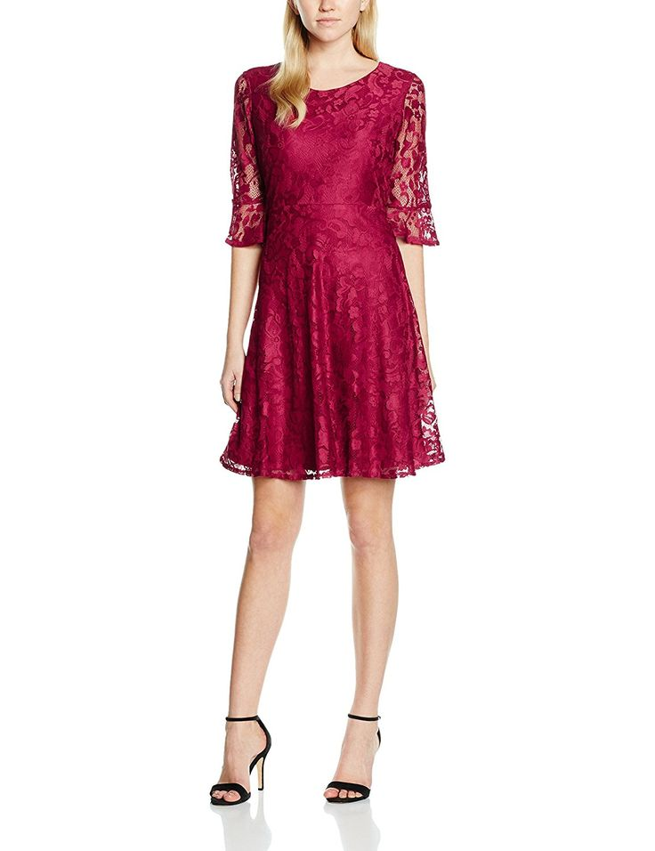 12, Purple (plum), Wallis Women's Floral Lace Fit and Flare Casual Dresses NEW