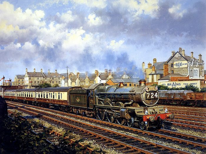Art Train Journeys : Steam Train Painting by Howard Fogg - Capital's United Express No.724, Steam Train Painting by Howard Fogg 30