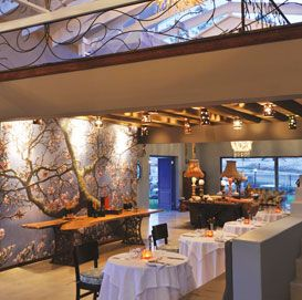 Mezzanine level at the Magnolia restaurant in Nelspruit