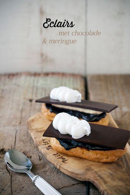 Hap & tap: Eclairs met chocolade & meringue