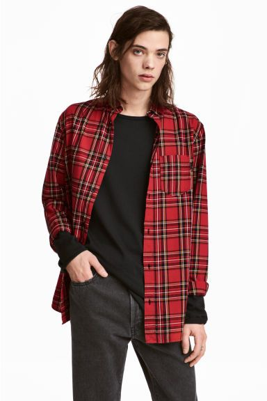 Camisa de franela de cuadros - Rojo/Amarillo - HOMBRE | H&M ES