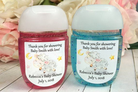 Little Lamb Baby Shower Favor Labels Hand Sanitizer Labels Hand