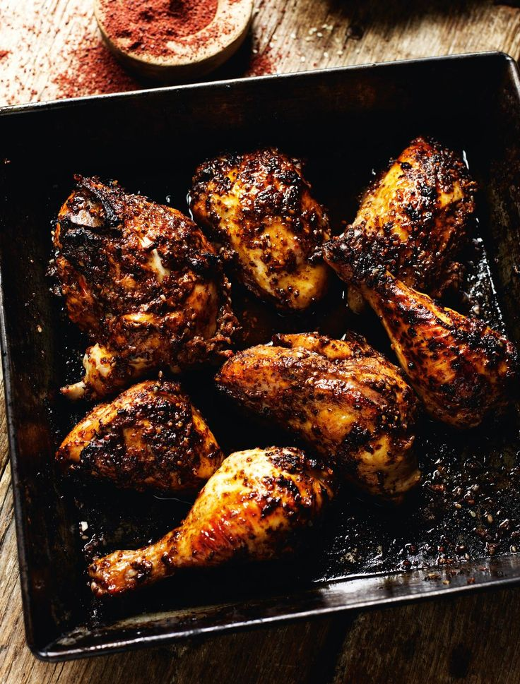 Oven-roasted Chicken with Sumac, Pomegranate Molasses, Chilli and Sesame Seeds - The Happy Foodie