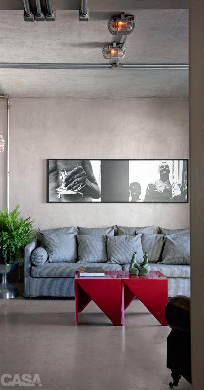 Apartamento pequeno: decoração masculina e visual uniforme