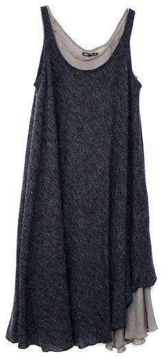 layered charcoal grey tunics