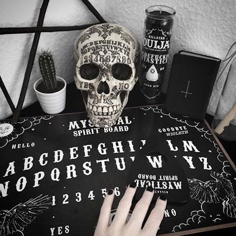 You used to call me on the ouija board; Spirit Board Game & Ouija Church Candle | SHOP KILLSTAR.com We ship worldwide!