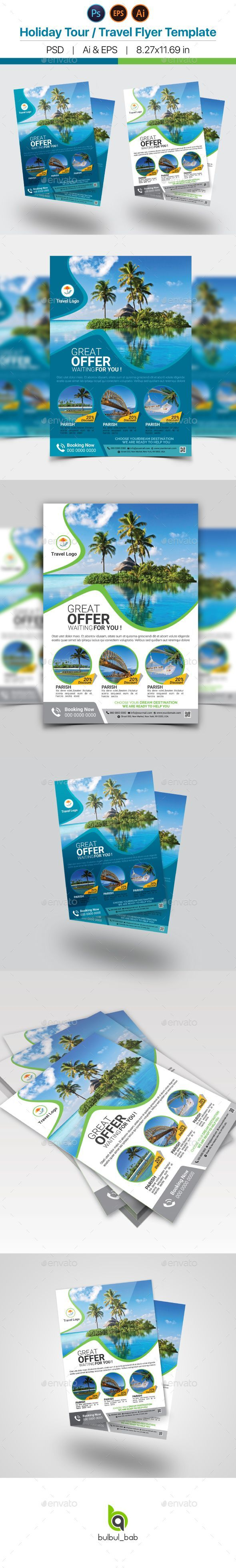 Holiday Travel / Tour Flyer Template - Holidays Events Download here: https://graphicriver.net/item/holiday-traveltour-flyer-template/15798338?ref=classicdesignp
