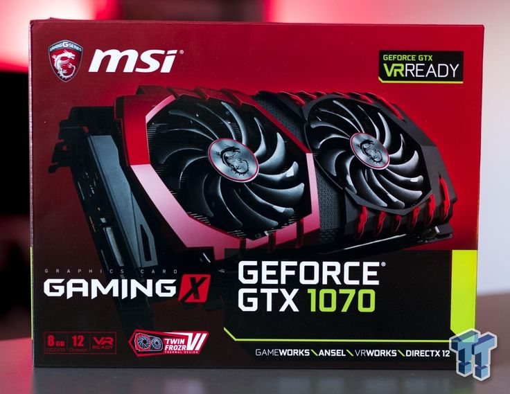 MSI GeForce GTX 1070 Gaming X 8G - Silent Gaming + Major OC Headroom
