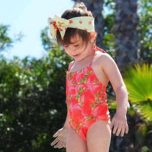 Protective Strawberry Maillot Fille