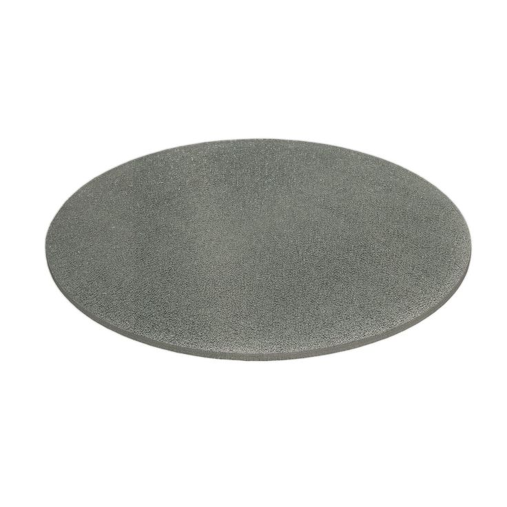 "Crackled 60"" Round Dining Table Top Smoke Crackled"