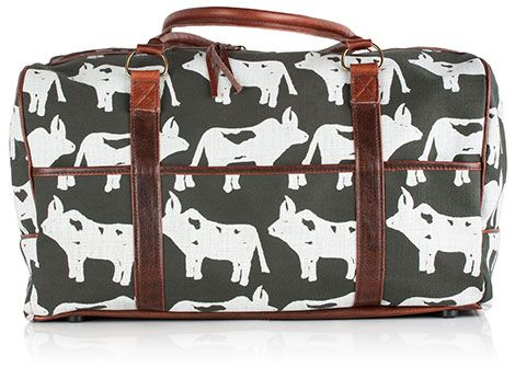 A weekend away made unique with this stylish Weekender bag in Nguni charcoal.