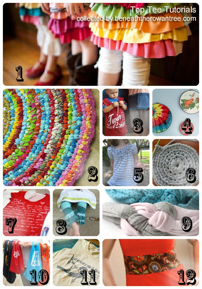 Tshirt Upcycle recycle Tutorials